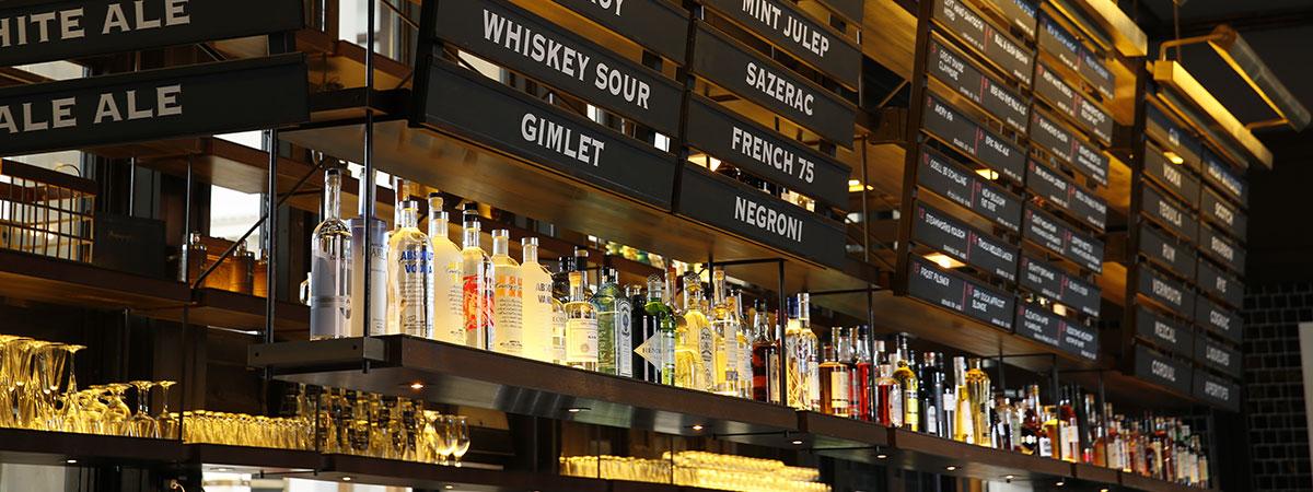 Terminal Bar Bottles